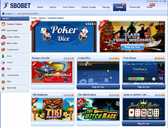 Games di sbobet indonesia